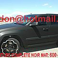 Land rover grand cherokee, covering lens, covering lens total covering noir mat, peinture covering noir mat, covering jantes no