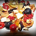 Salade chaud froid de fruits de saison