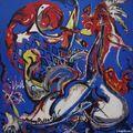 Jackson Pollock, Femme-lune coupe le cercle, 1943
