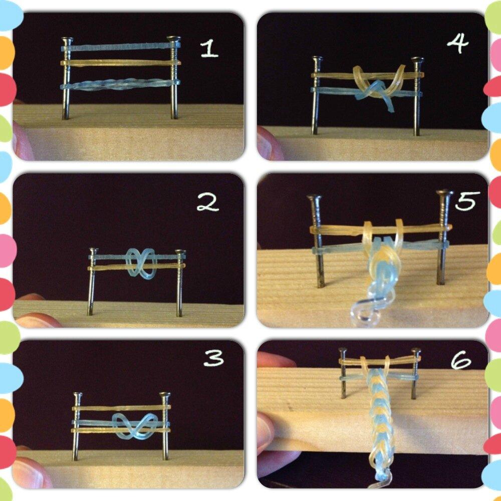 DIY : faire des bracelets élastiques crazloom avec deux clous :-)