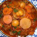 Bœuf mijoté à la tomate et aux légumes