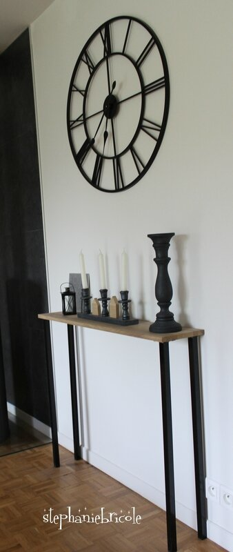 diy un meuble console en bois un cours de bricolage. Black Bedroom Furniture Sets. Home Design Ideas