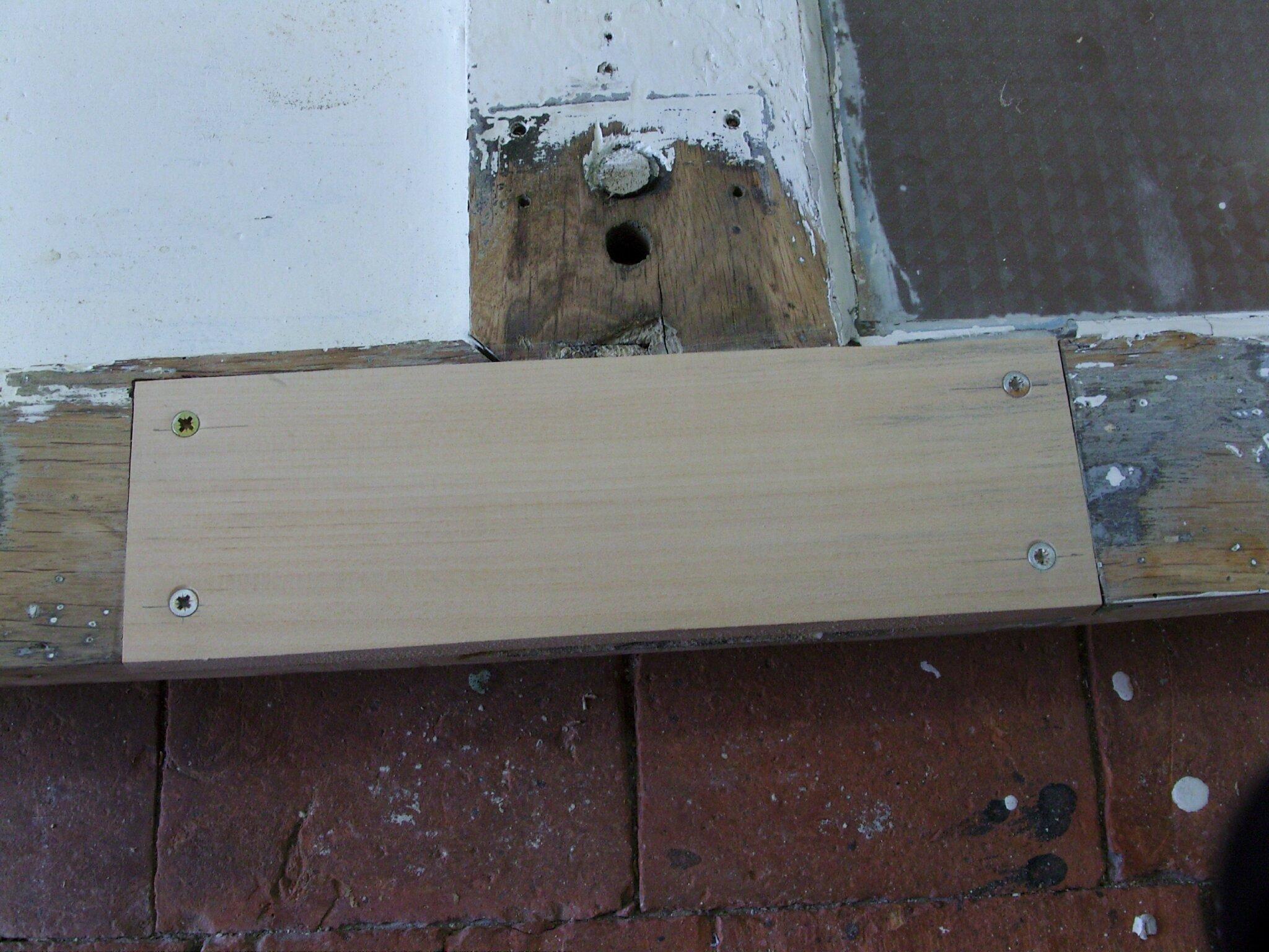 Réparation d'une porte (2 2) Histoires de bois # Reparation Porte En Bois