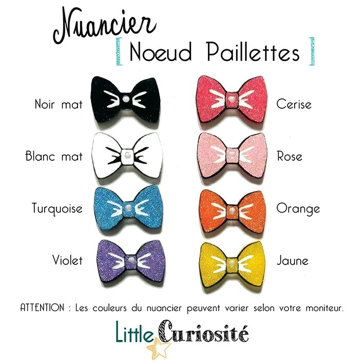 Little Bijoux au Crochet [ Broches Kawaii ] Nuancier Noeud Paillettes - Handmade in France ©Little Curiosité