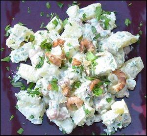 Pommes de terre aux crevettes grises