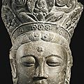 A limestone head of guanyin, china, liao dynasty