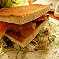 Club sandwich au saumon fumé