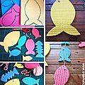 ¨°o.o poissons d'avril en éponge / diy april fool's fish o.o°¨