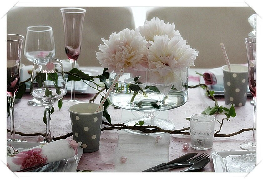 "Ma table ""Passions Pivoines"""