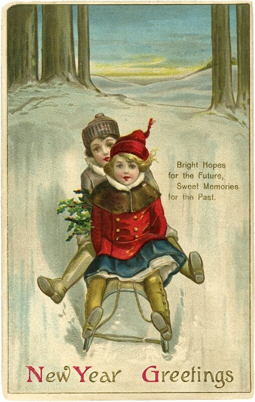 Vintage-New-Year-Sled-Image-GraphicsFairy