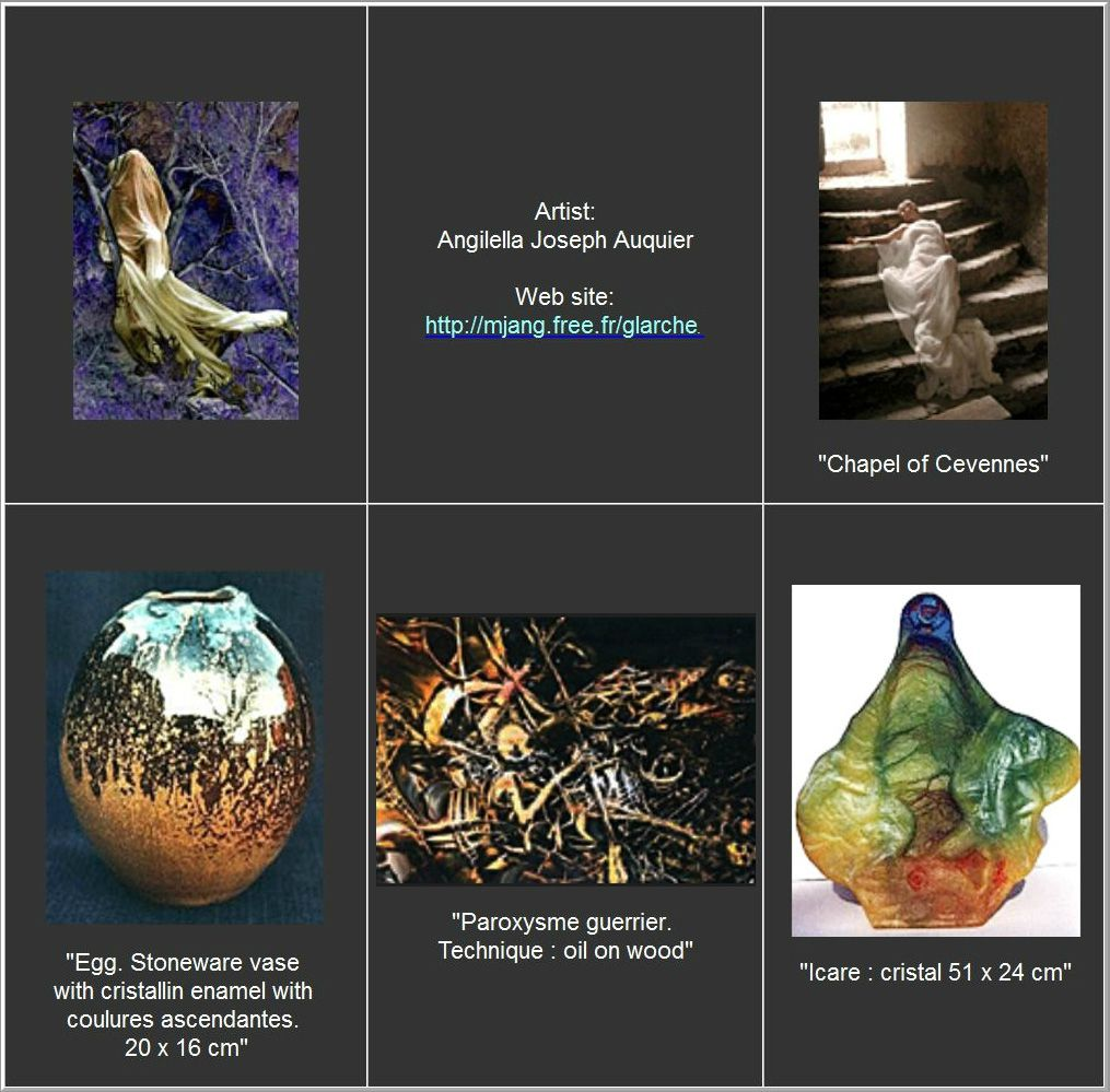 Peintre Ceramique Pate de verre Joseph Angilella Auquier