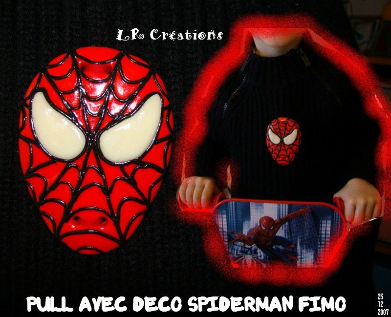 LR Créations spiderman pull