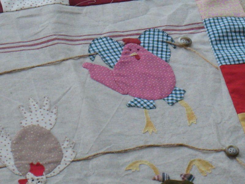appliqué : les poules 3