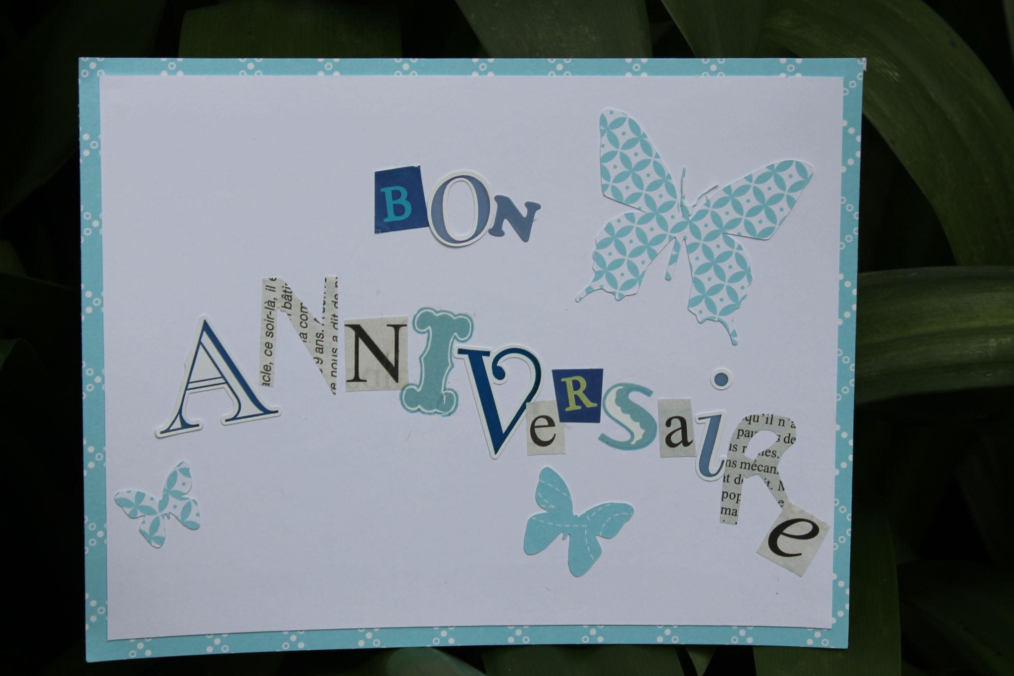 carte anniversaire 2013