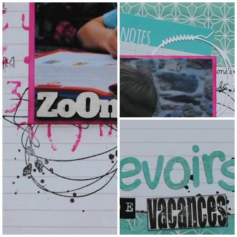 devoirs de vacances collage