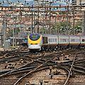 TGV Eurostar arrivant en gare de Marseille