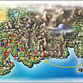 Carte du johto et du kanto / cheminement de version or