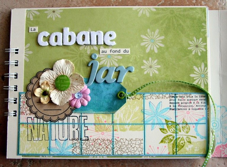 Mini album la cabane au fond du jardin le scrap de carol - La cabane au fond du jardin laurent gerra ...