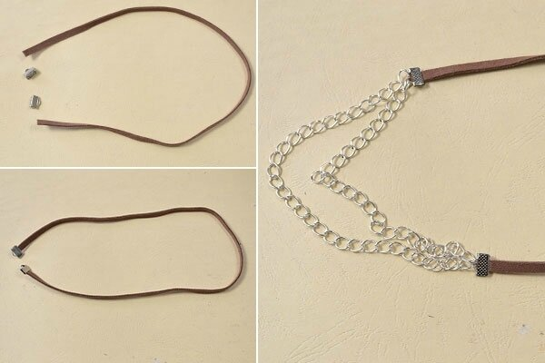 how-to-make-women_s-chain-necklace-with-leather-pendants-2