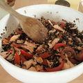 Salade de lentilles saumon et thon
