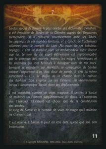 Sardar Tillius, le sage - 7 (artefact)