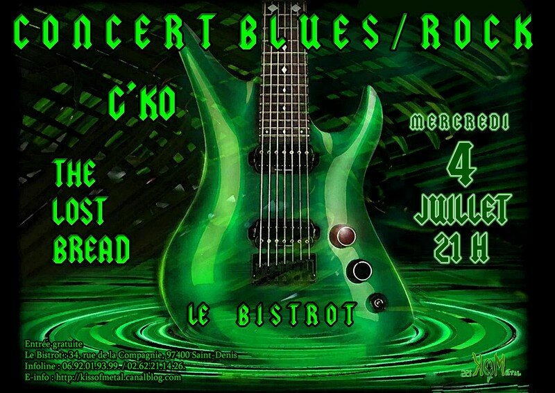Concert G'ko - The Lost Bread au Bistrot 4 juillet
