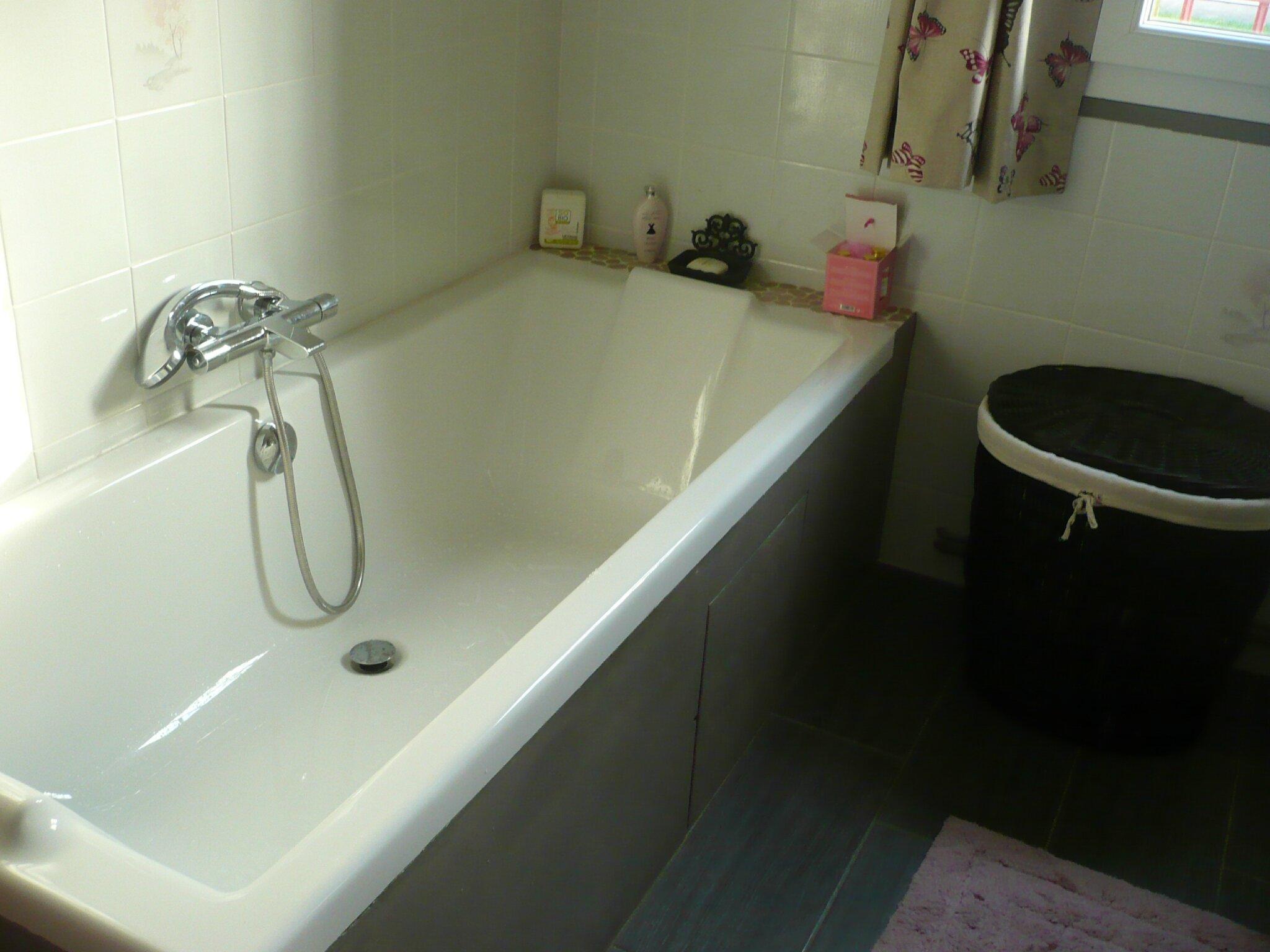 Carrelage salle de bain gris fonce for Travaux salle de bain