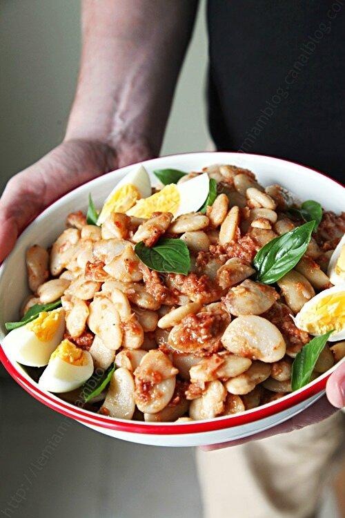 salade de haricots blancs vinaigrette tomate 0001b LE MIAM MIAM BLOG