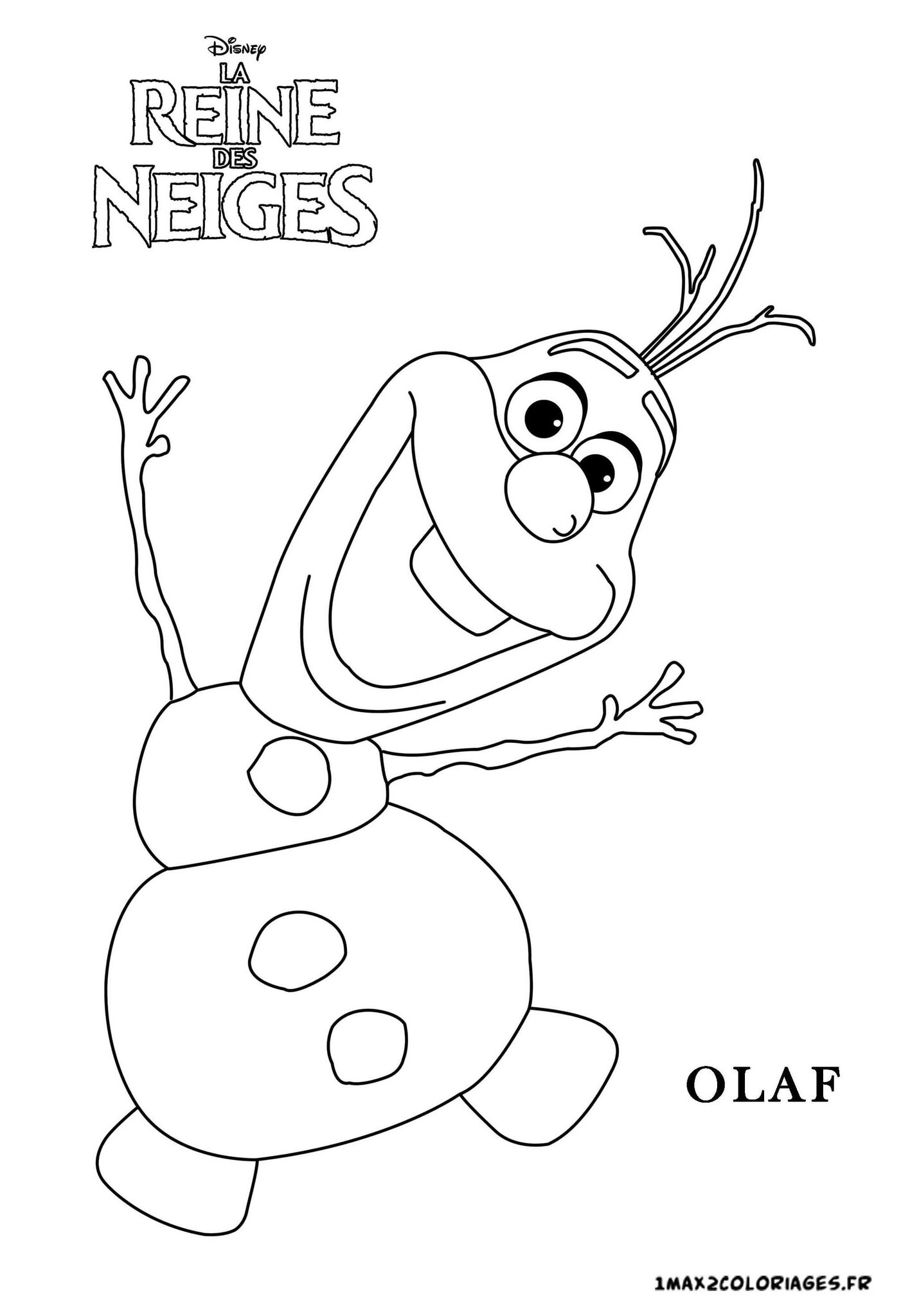 olafs face coloring pages - photo#21