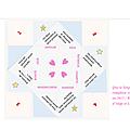 Carte de voeux ... sous forme de cocotte en papier ! bonne année 2015