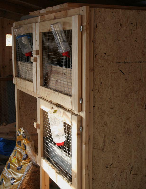 Clapier lapin bois fait maison images for Abreuvoir lapin fait maison