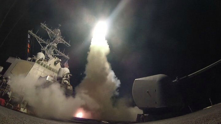 Strikes on Syria 2 - Tomahal launch