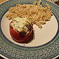 Tomates farcies au boursin et poulet