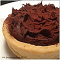 Tartelettes hérisson crème d'amande chocolat