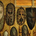 Differents masques de la Sepik