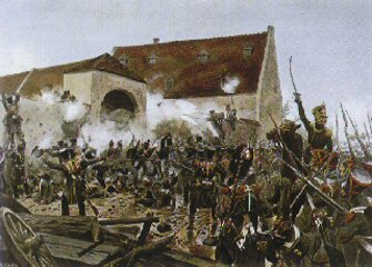 L'assaut de la Haye-Sainte