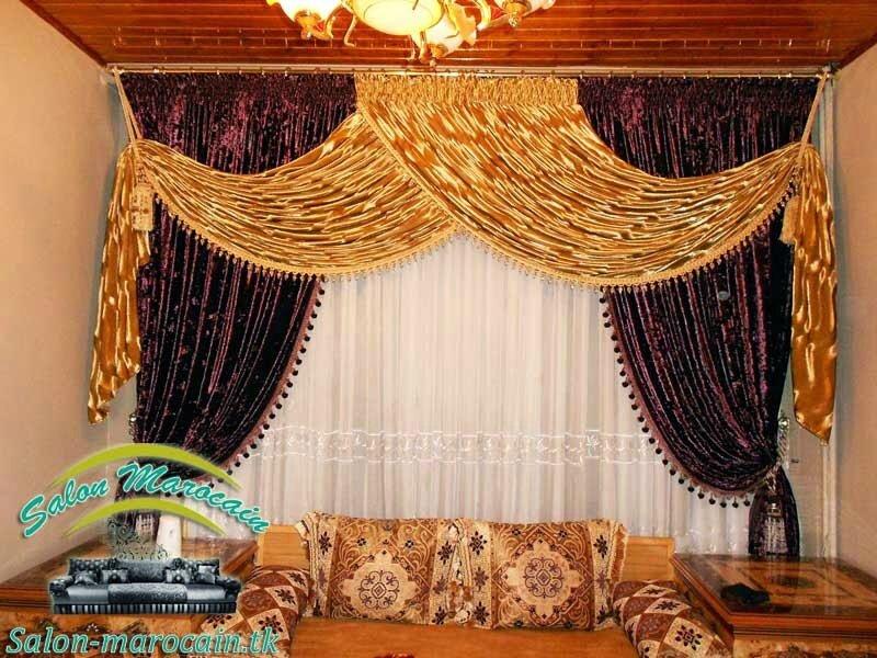 rideau salon marocain impressionnant salon marocain moderne. Black Bedroom Furniture Sets. Home Design Ideas