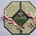 Carte octogonale avec gabarit offert