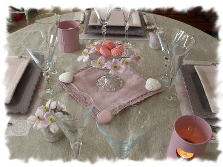 table rose poudrée 009