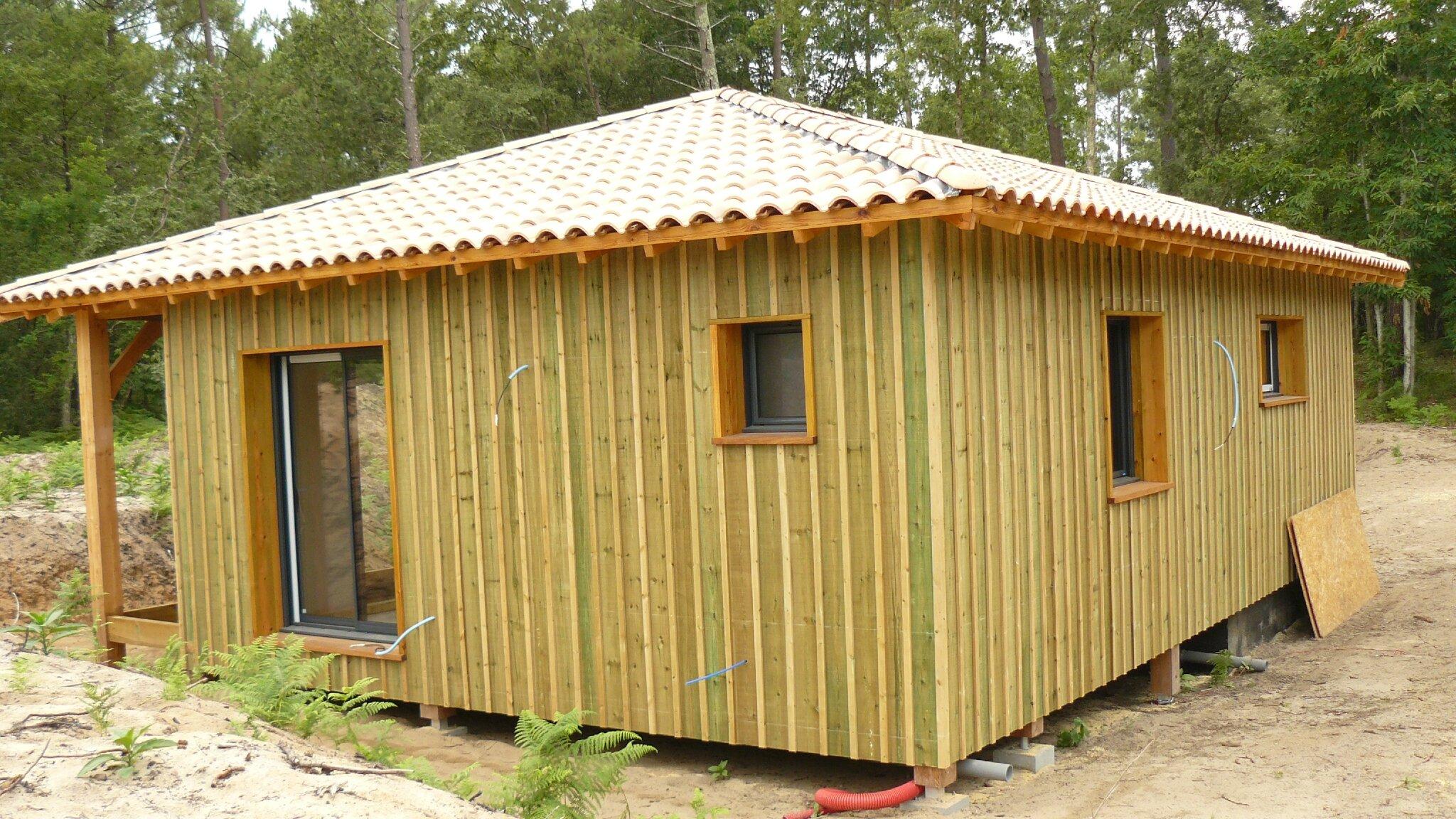 Exceptionnel Bardage en pin - Notre projet de maison ossature bois côté lac AW73