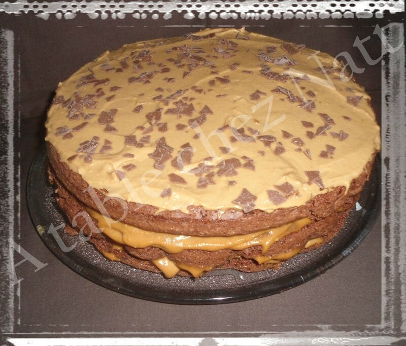 layer cake choco-spéculoos