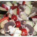 Brochettes de légumes marinées à la plancha
