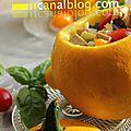 Courgettes du soleil {tomates cerises, basilic et tofu - recette vegan}