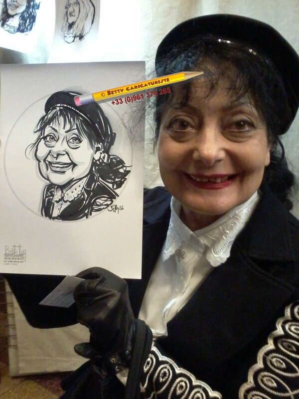 femme beret caricature portrait metz 57 caricaturiste moselle luxembourg belgique