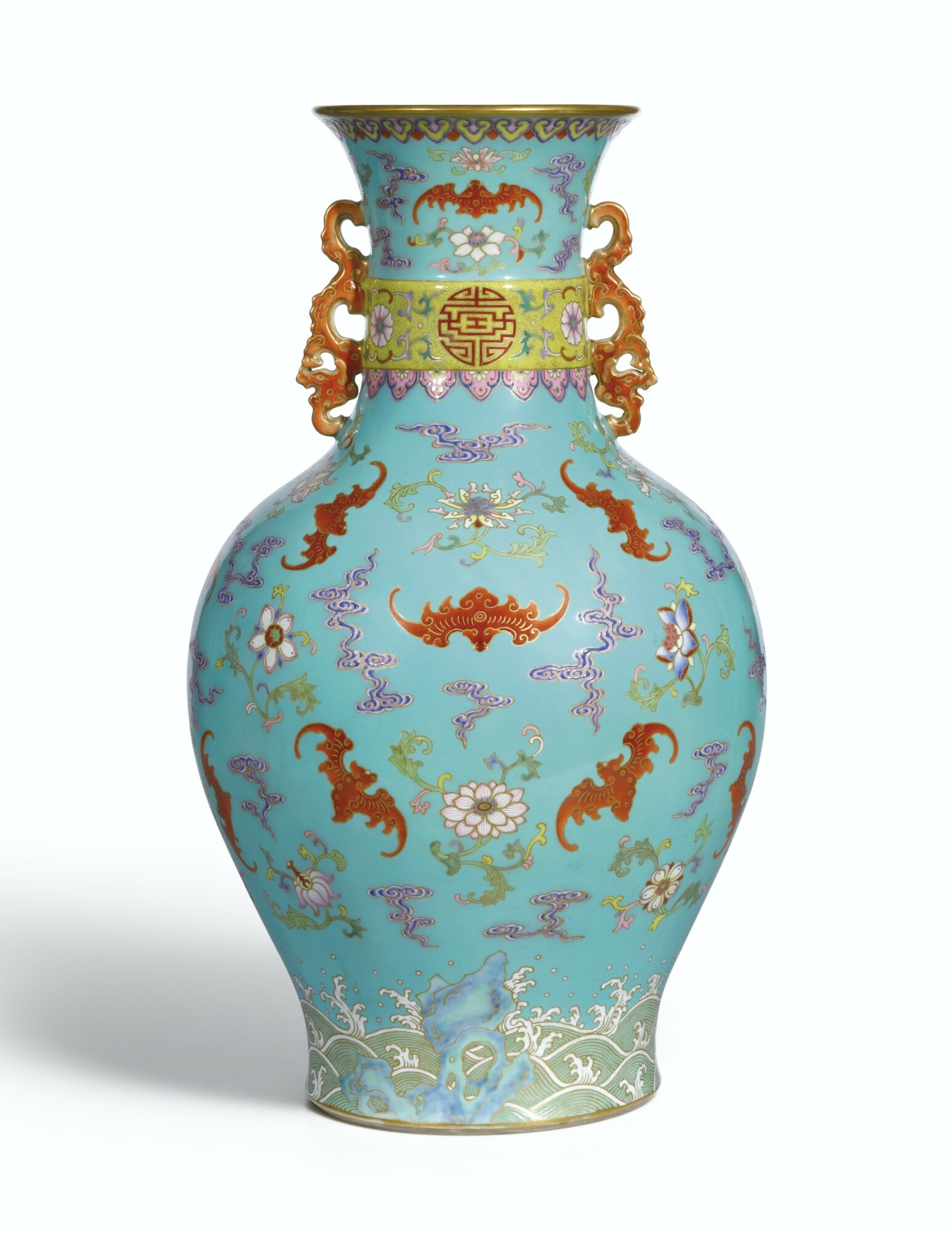 A magnificient turquoise ground famille rose vase seal mark and a magnificient turquoise ground famille rose vase seal mark and period of qianlong 4ce4e7cbfbcd212733d406957b4e1fea 11e77c2c6f85510d70e07d6831ca81ea reviewsmspy