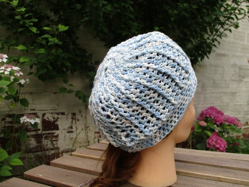 Bonnet simple en fil coton (8)