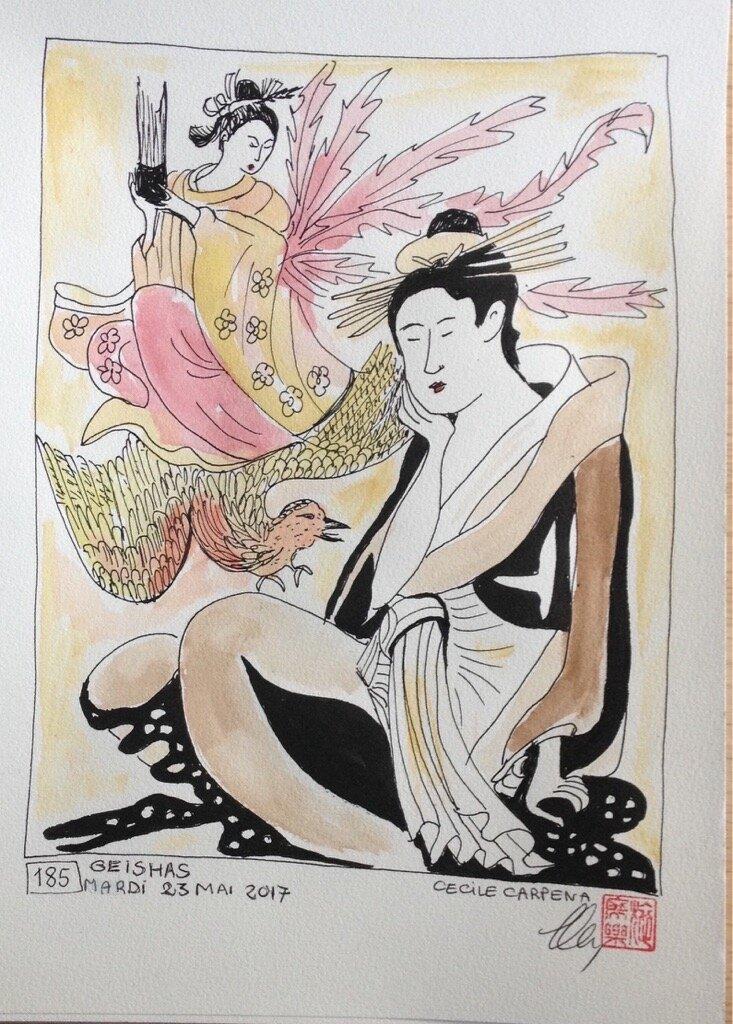 Warrior woman- Dessin et Haïku n°185