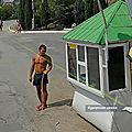 A moitié nu sur street view