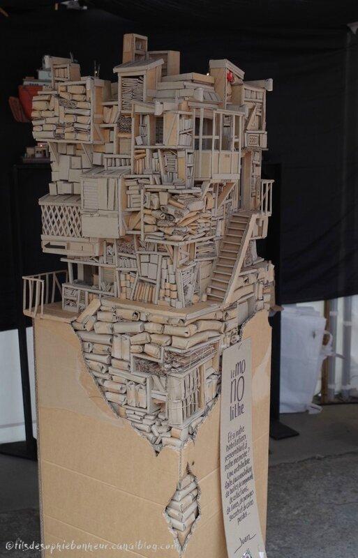maison carton monolythe