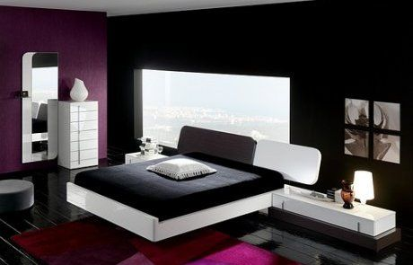 chambre design noir violet - Photo de chambres design - deco design